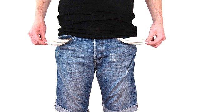 muž bez peněz